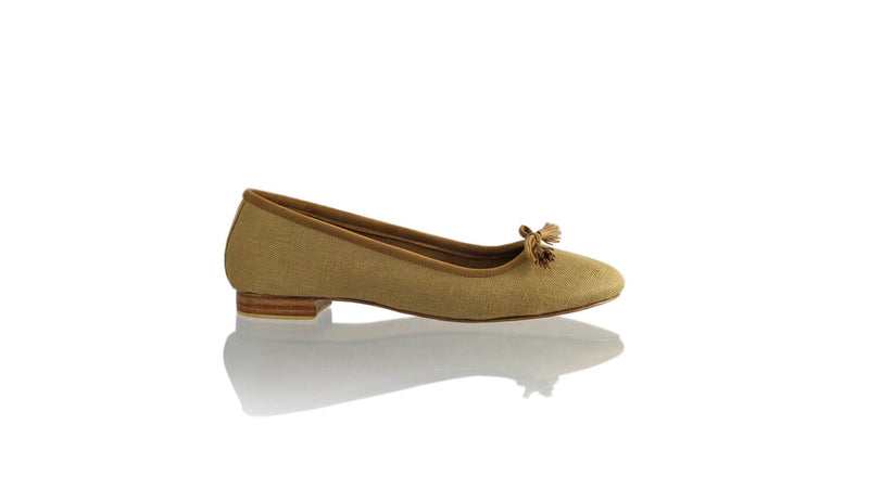 Leather-shoes-Noemi 20mm Ballet - Brown Jute Linen-flats ballet-NILUH DJELANTIK-NILUH DJELANTIK
