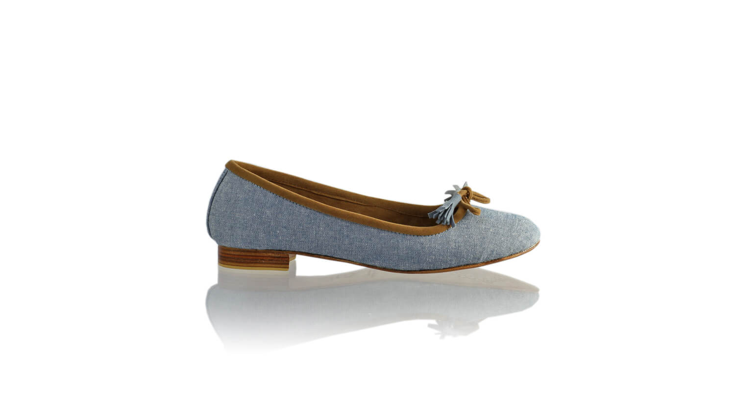 Leather-shoes-Noemi 20mm Ballet - Light Blue Linen-flats ballet-NILUH DJELANTIK-NILUH DJELANTIK