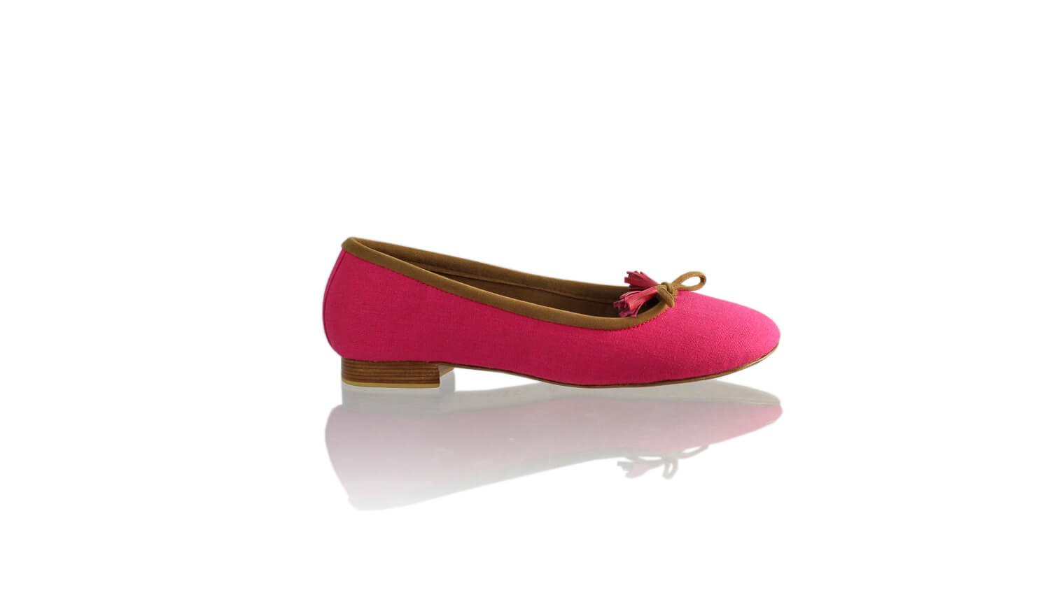 Leather-shoes-Sasha 20mm Ballet - Fuschia Linen-flats ballet-NILUH DJELANTIK-NILUH DJELANTIK