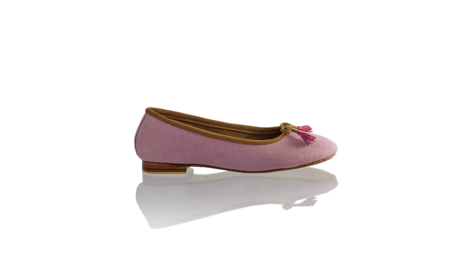 Leather-shoes-Sasha 20mm Ballet - Purple Linen-flats ballet-NILUH DJELANTIK-NILUH DJELANTIK