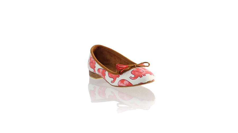 Leather-shoes-Noemi 20mm Ballet - Red Elephant Canvas-flats ballet-NILUH DJELANTIK-NILUH DJELANTIK