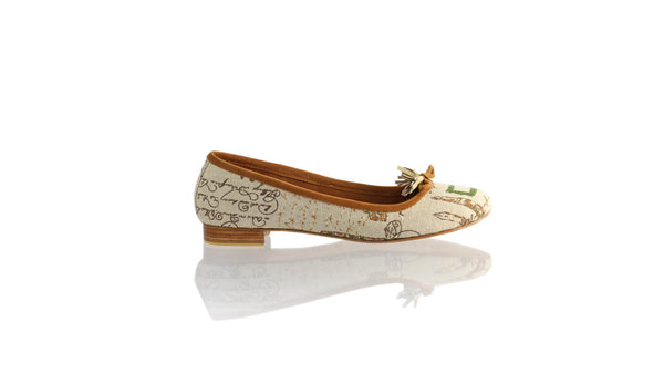 Leather-shoes-Noemi 20mm Ballet - News Paper Canvas-flats ballet-NILUH DJELANTIK-NILUH DJELANTIK