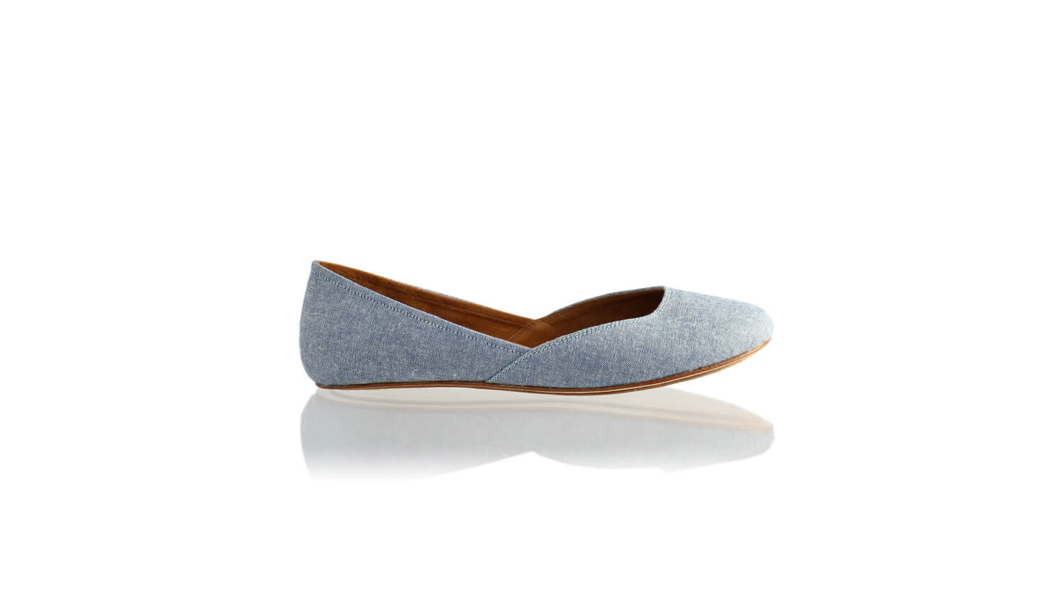 Leather-shoes-Punjab 5mm Ballet - Light Blue Linen-flats ballet-NILUH DJELANTIK-NILUH DJELANTIK