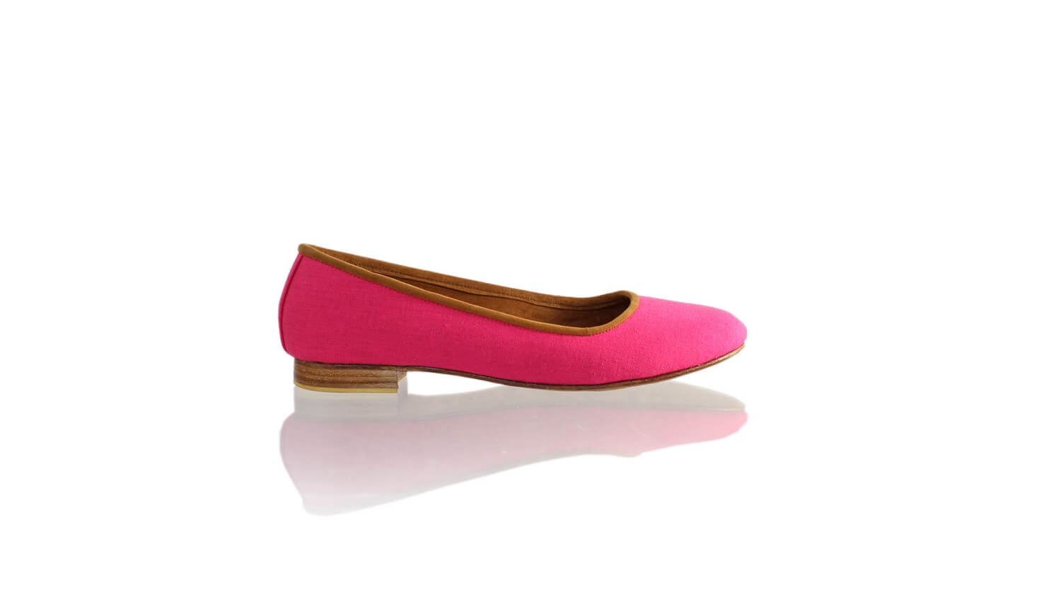 Leather-shoes-Kate 20mm Ballet - Fuschia Linen-flats ballet-NILUH DJELANTIK-NILUH DJELANTIK