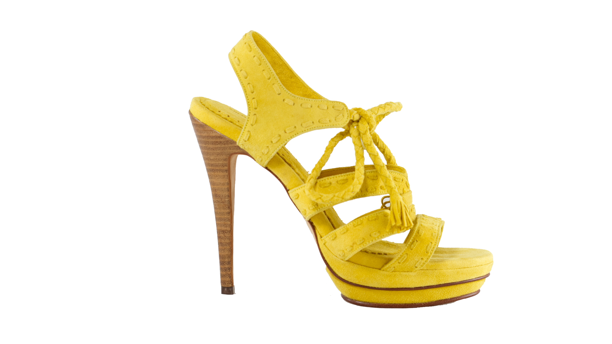 Leather-shoes-Palmi 138mm - Yellow Suede-High Heels-NILUH DJELANTIK-NILUH DJELANTIK