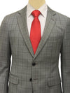 Grey Check Black Lining Suit - Exist