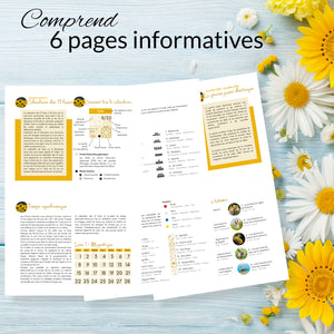 Pages explicatives incluses avec le calendrier