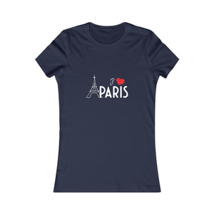 I love Paris Navy T-Shirt on white background