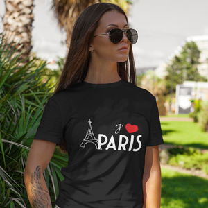 I love Paris Black Relaxed T-Shirt