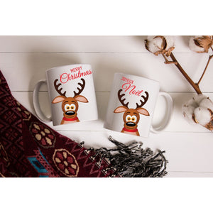 Christmas Reindeer Coffee Mugs