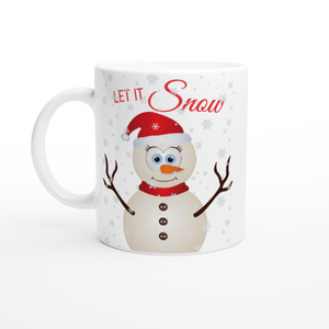 Let It Snow Snowman 11oz Mug