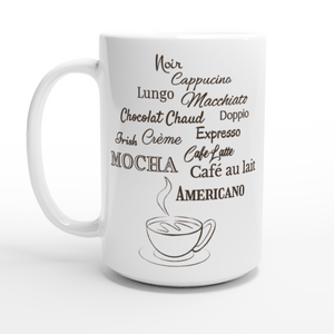 Coffee Lover 15oz White Coffee Mug