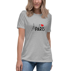 I love Paris Athletic Heather Relaxed T-Shirt