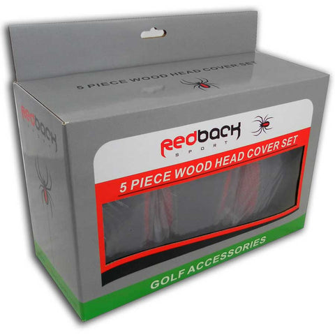SET OF 5 WOOD HEAD COVERS