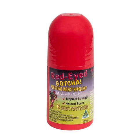 6 x Red-Eye Gotcha! 100ml Roll-On Insect Repellent