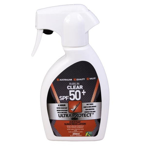 6 x Ultra Protect SPF50+250ml Trigger Spray Sunscreen