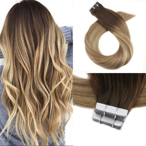 10pk Brown #3 fading brown/blonde #8  20 inches