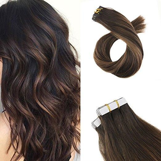 10pk Darkest Brown #2 blend #6   20 inches