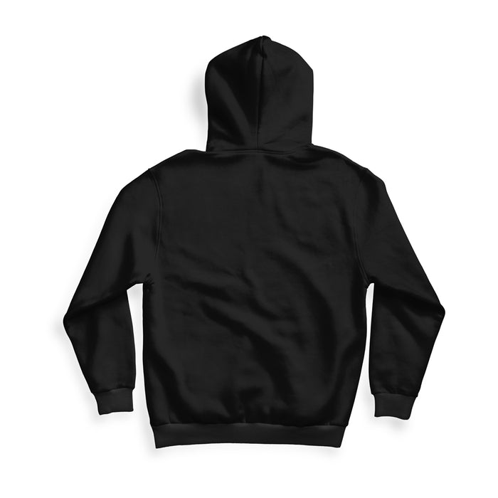 Savage Zip Up Hoodie in Black With Embroidered Red Logo