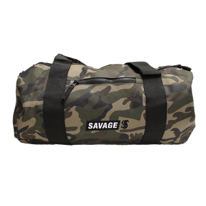 Green Camo Barrel Bag