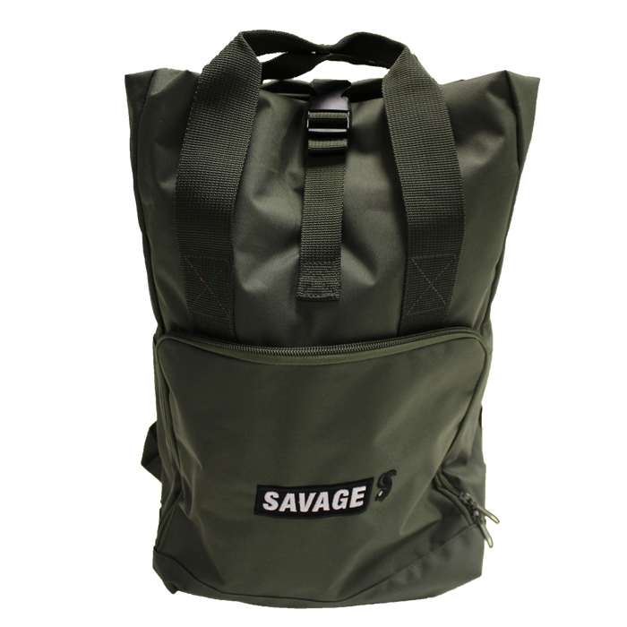 Green Roll-top Backpack