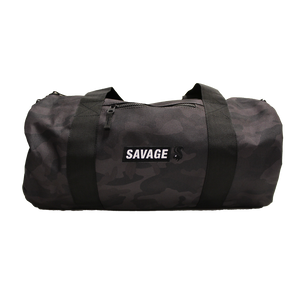 Grey Camo Barrel Bag