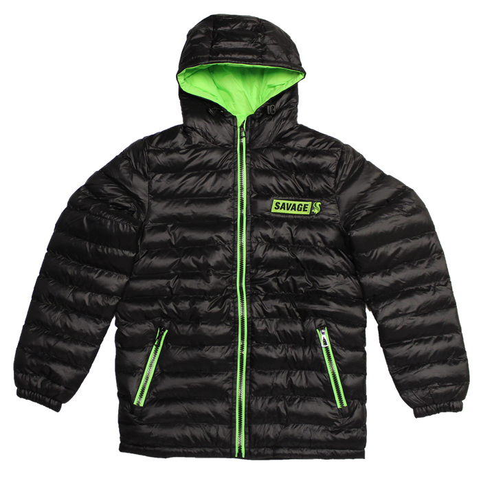 Lime green padded jacket