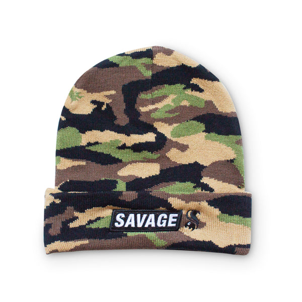 Savage Squirrel Camo Cuffed Beanie