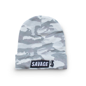 Savage Squirrel Artic Camo Cuffed Beanie
