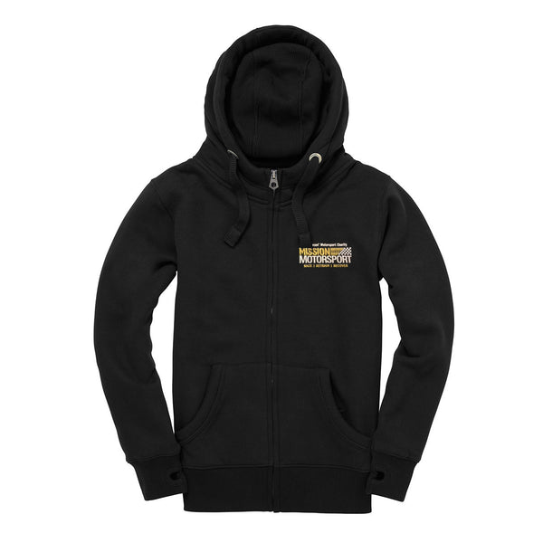 Mission Motorsport Black Zip Hoodie