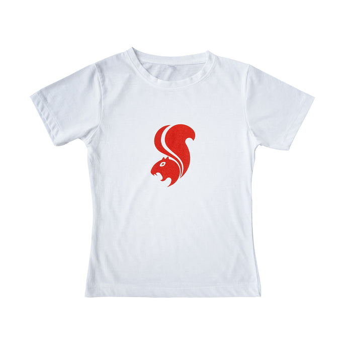 Savage Red on White Logo T-shirt