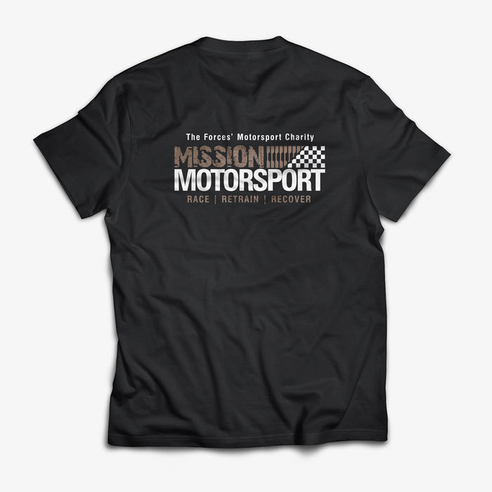 Mission Motorsport Black T-Shirt soft touch short sleeve