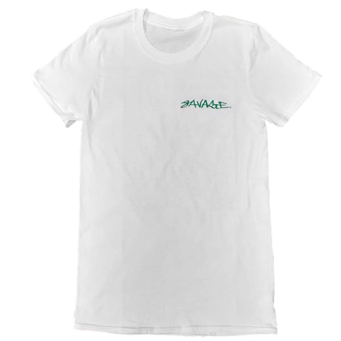 Savage Fluorescent Doodle Tee (white)