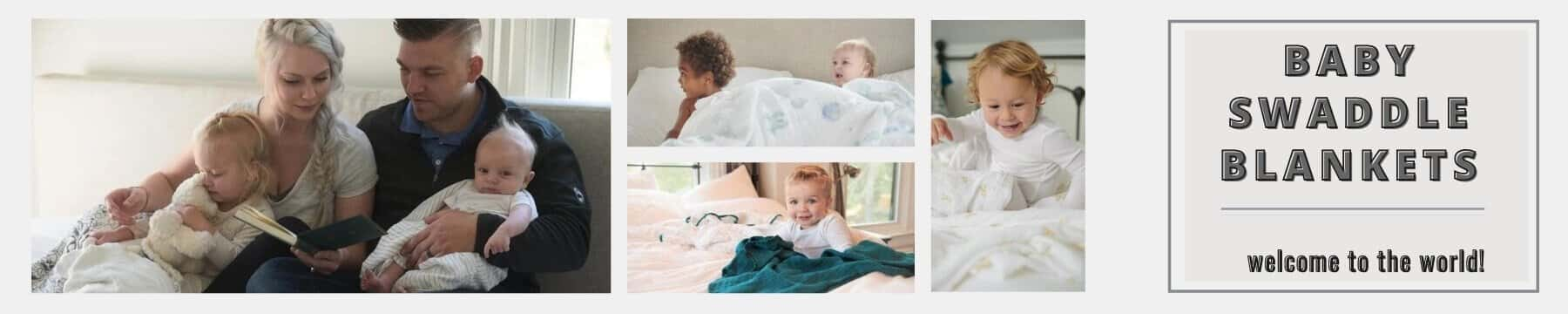 Banner Swaddle Blankets Collection - Roll Up Baby