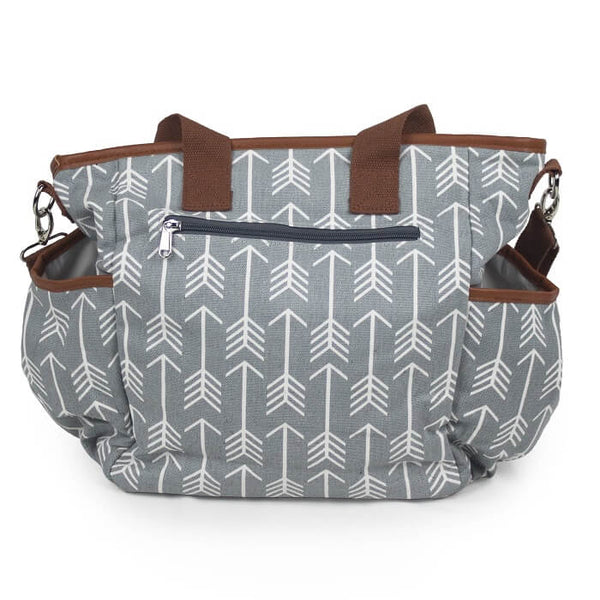 Baby Canvas Diaper Bag - Arrow Print - Roll Up Baby