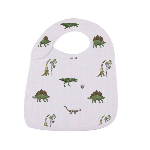 Baby Muslin Snap Bibs - Dino Days - Roll Up Baby