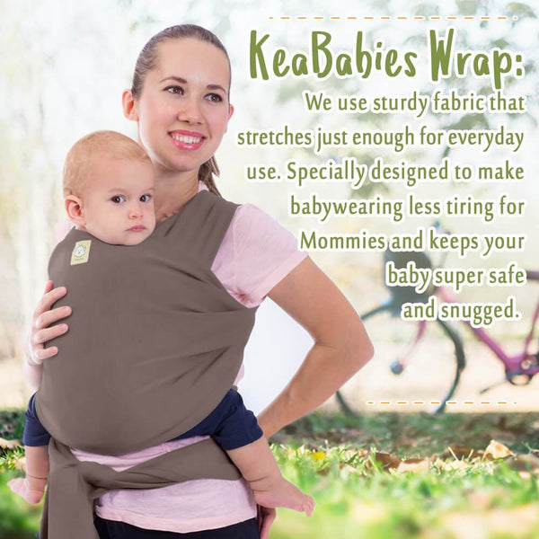 Baby Wrap Carrier - Copper Gray - Roll Up Baby