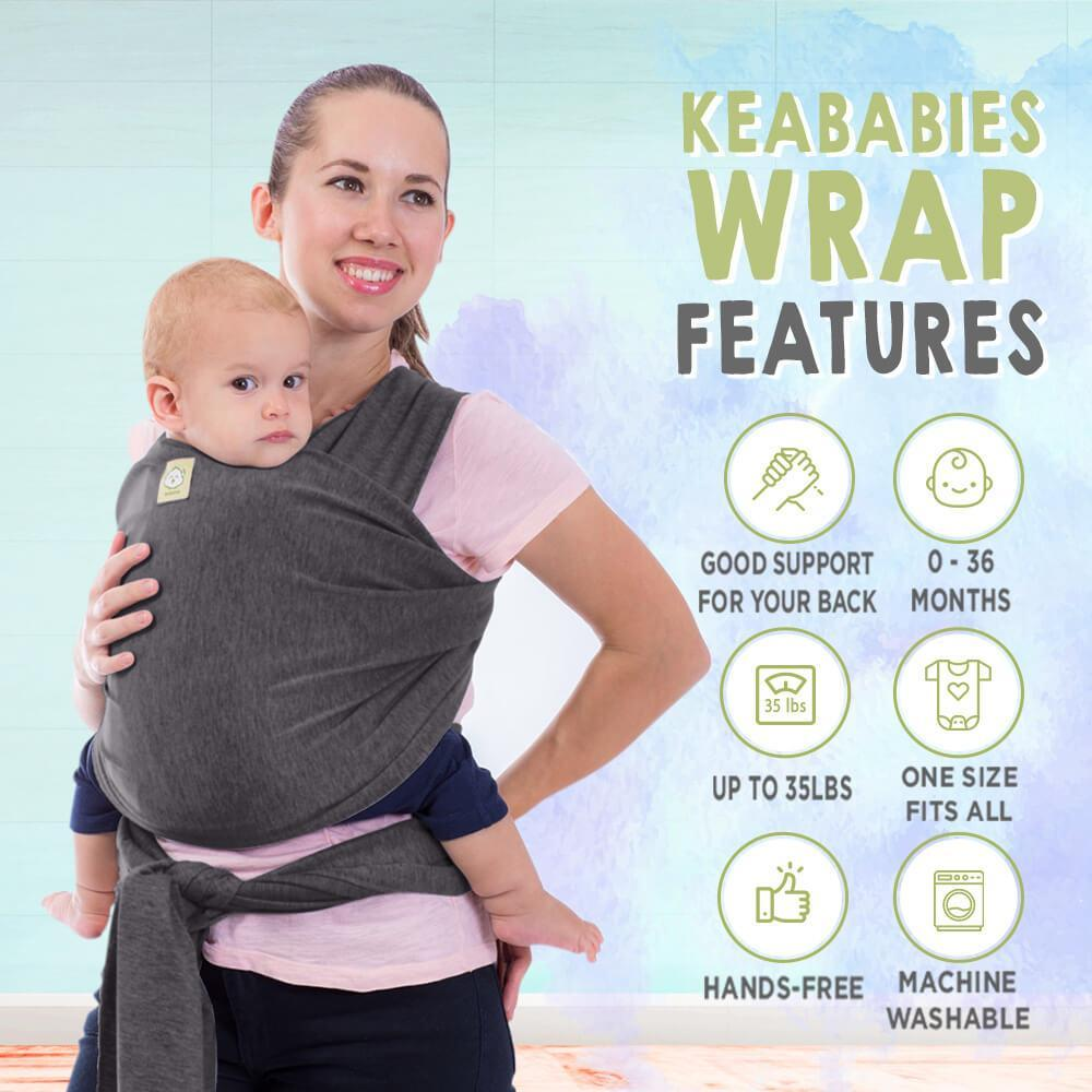 Baby Wrap Carrier - Mystic Gray - Roll Up Baby