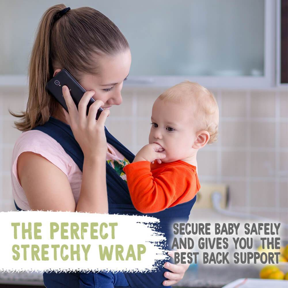 Baby Wrap Carrier - Navy Blue - Roll Up Baby