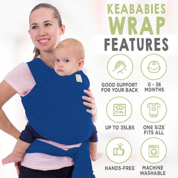 Baby Wrap Carrier - Royal Blue - Roll Up Baby