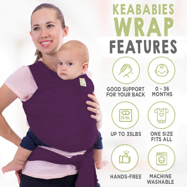 Baby Wrap Carrier - Royal Purple