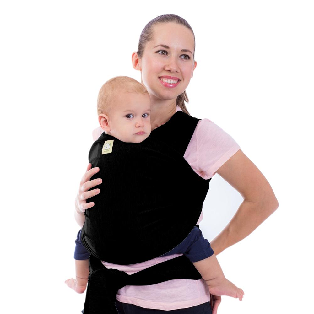 Baby Wrap Carrier - Trendy Black - Roll Up Baby