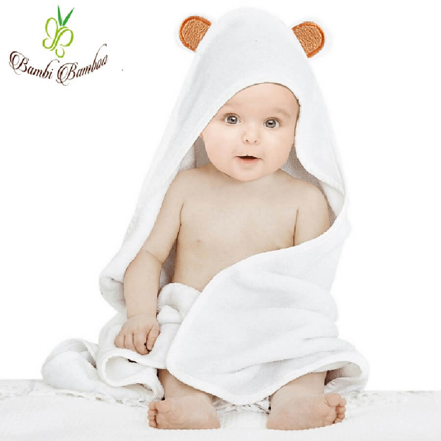Bamboo Baby Hooded Towel - Bear - Roll Up Baby