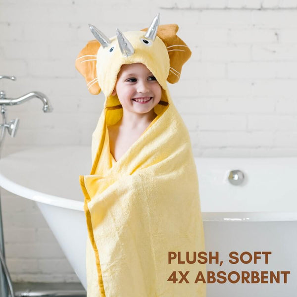 Bamboo Baby Hooded Towel - Dinosaur - Roll Up Baby