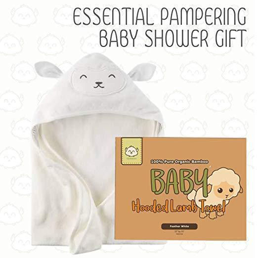 Bamboo Hooded Towel - Lamb - Roll Up Baby