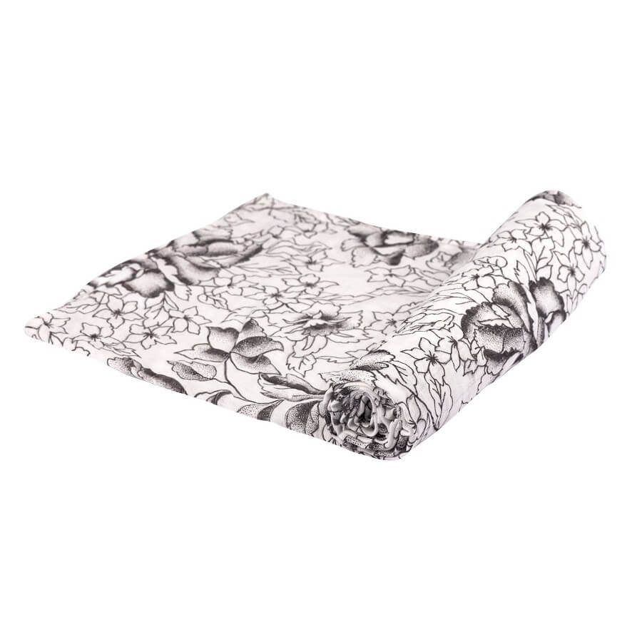 Bamboo Receiving Blanket - American Rose - Roll Up Baby