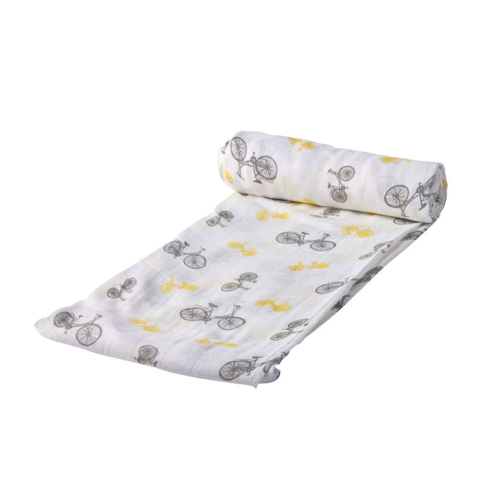 Baby Swaddle Wrap - Vintage Bicycle - Roll Up Baby