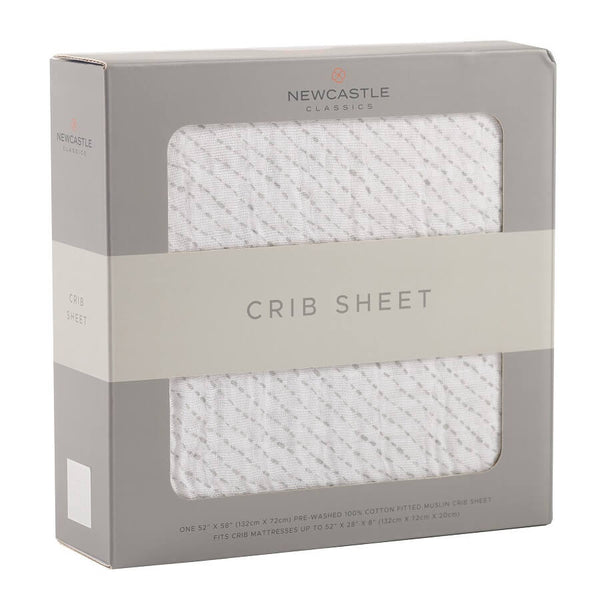 Crib Bedding Sheet - Spotted Wave - Roll Up Baby