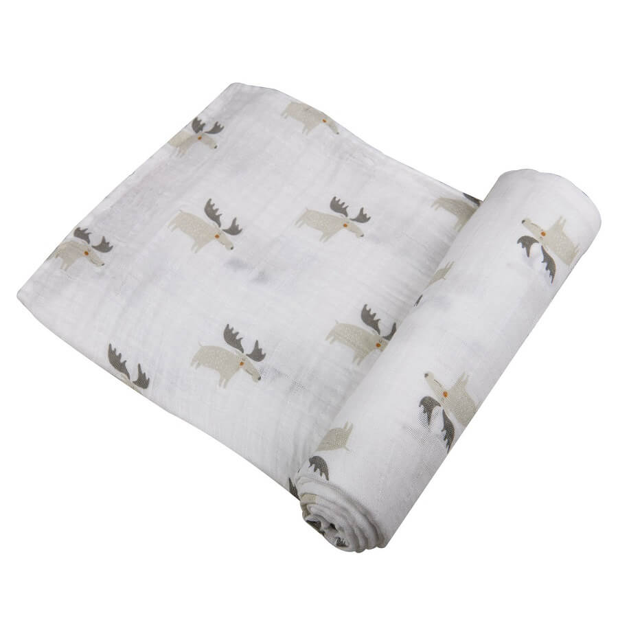 Cute Swaddle Blanket - Mister Moose - Roll Up Baby