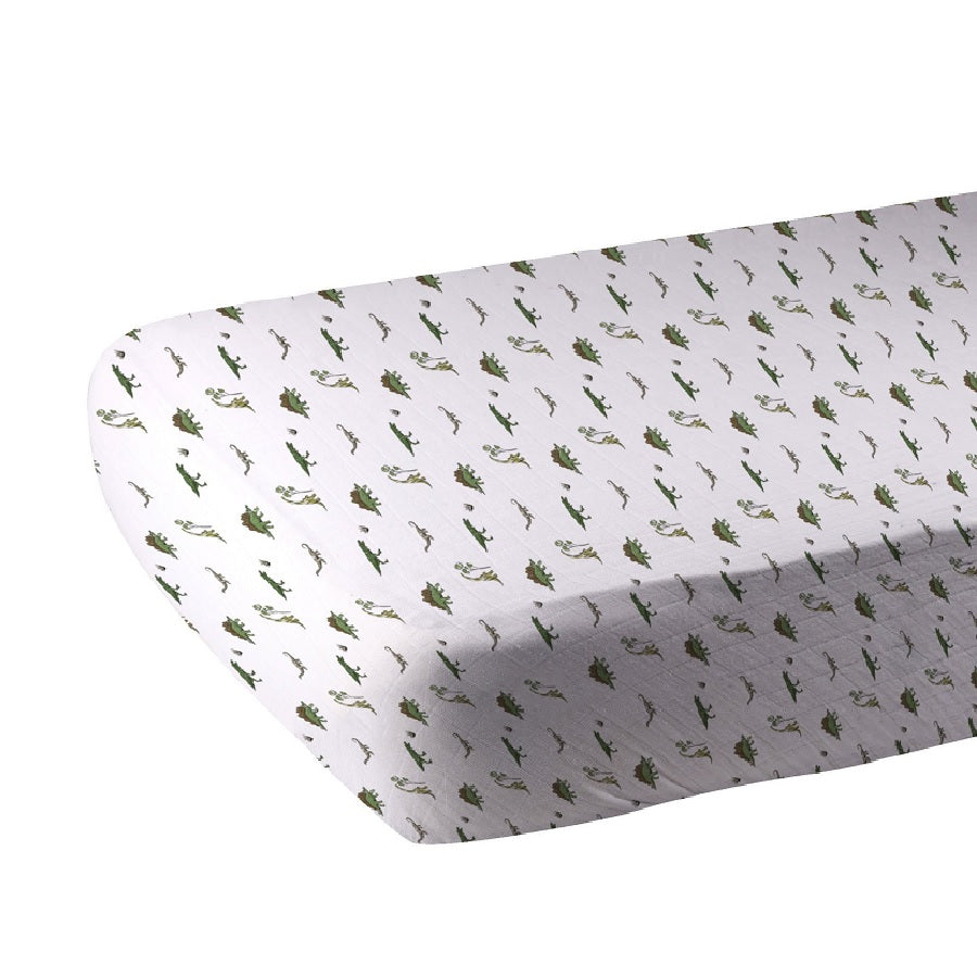 Organic Crib Sheet Boy - Dino Days - Roll Up Baby